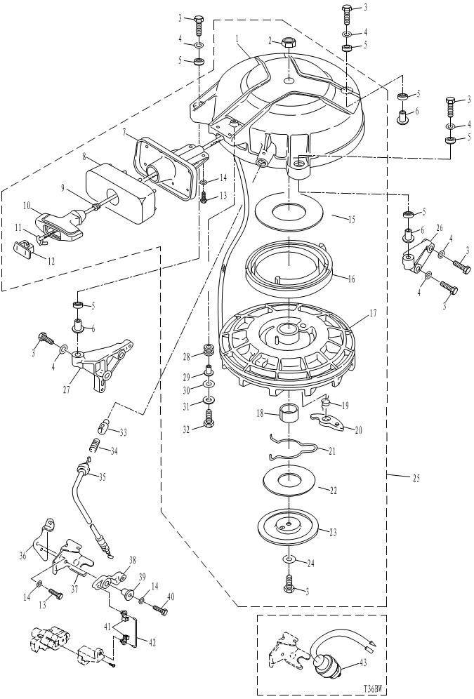 стартер для лодочного мотора parsun